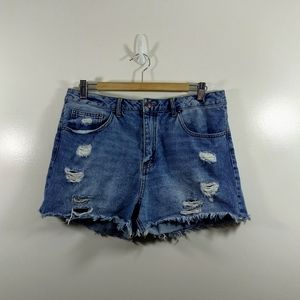*New Listing*Forever 21 Distressed BlueJean Shorts
